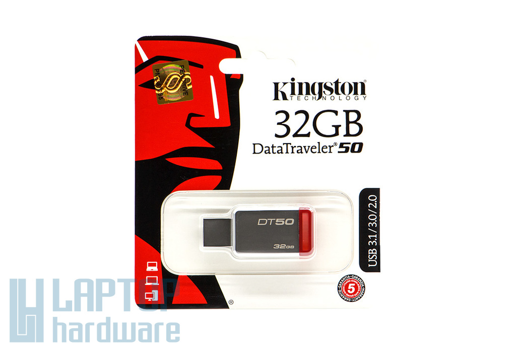 Kingston DataTraveler 50 32GB USB 3.1 ezüst-piros pendrive (DT50/32GB)