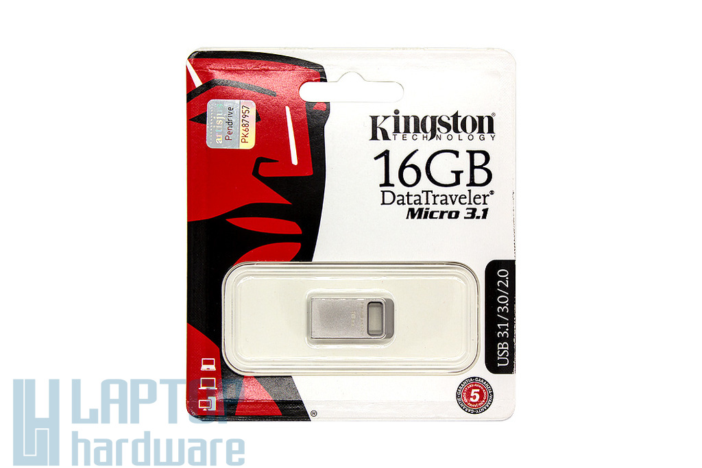 Kingston DataTraveler Micro 3.1 16GB USB 3.1 ezüst pendrive (DTMC3/16GB)