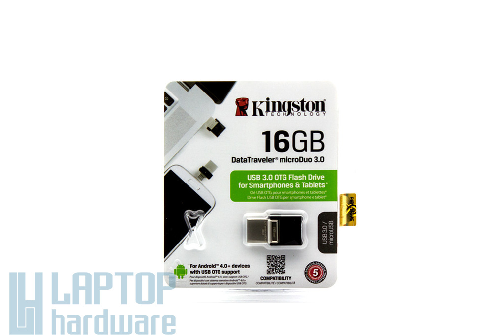 Kingston DataTraveler microDuo 16GB USB 3.0 / microUSB OTG pendrive (DTDUO3/16GB)