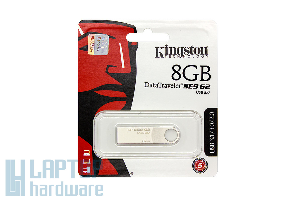 Kingston DataTraveler SE9 G2 DTSE9 G2 8GB USB 3.1 ezüst pendrive (DTSE9G2/8GB)
