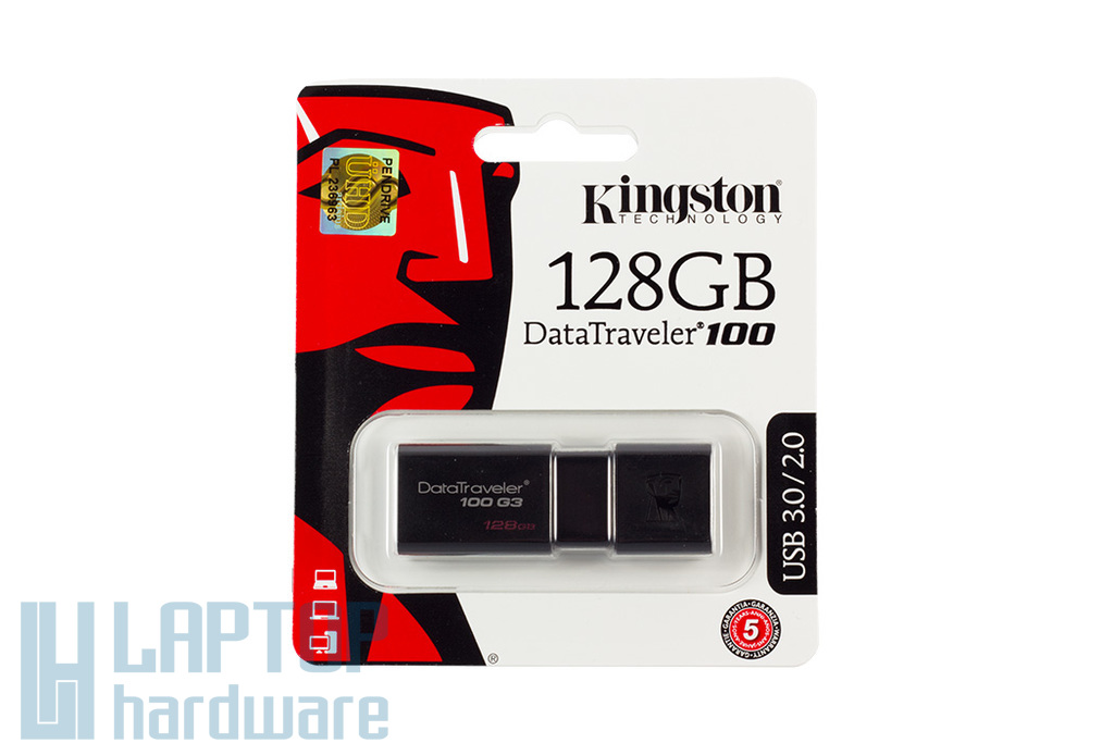 Kingston DT100 128GB USB 3.0 fekete pendrive (DT100G3/128GB)