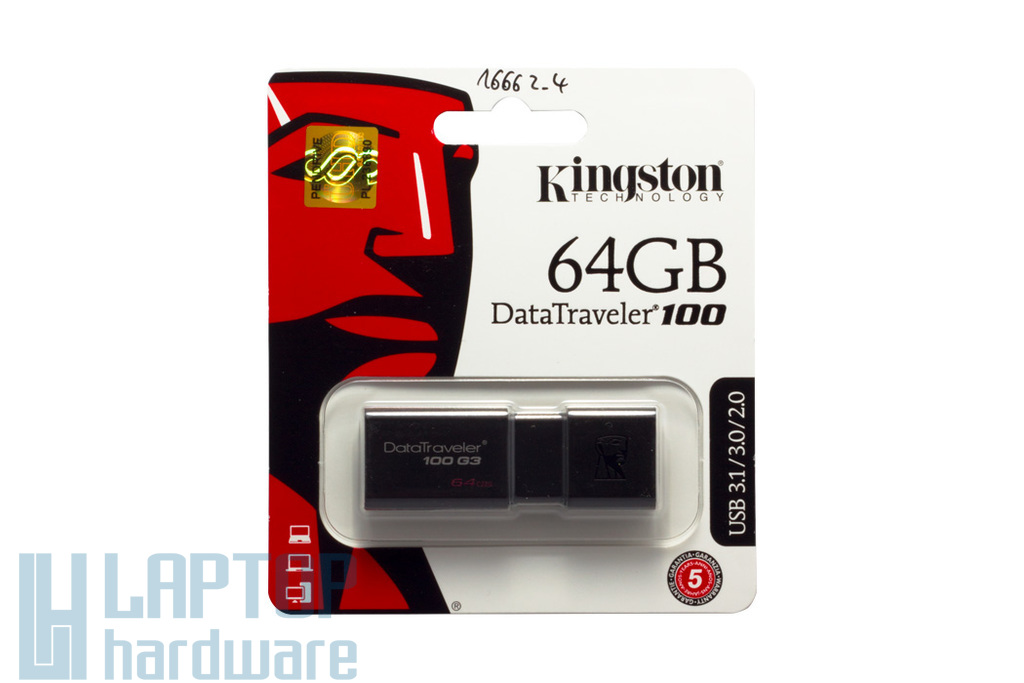 Kingston DT100 64GB fekete pendrive (DT100G3/64GB)