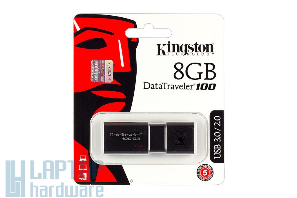 Kingston DT100 8GB fekete pendrive (DT100G3/8GB)