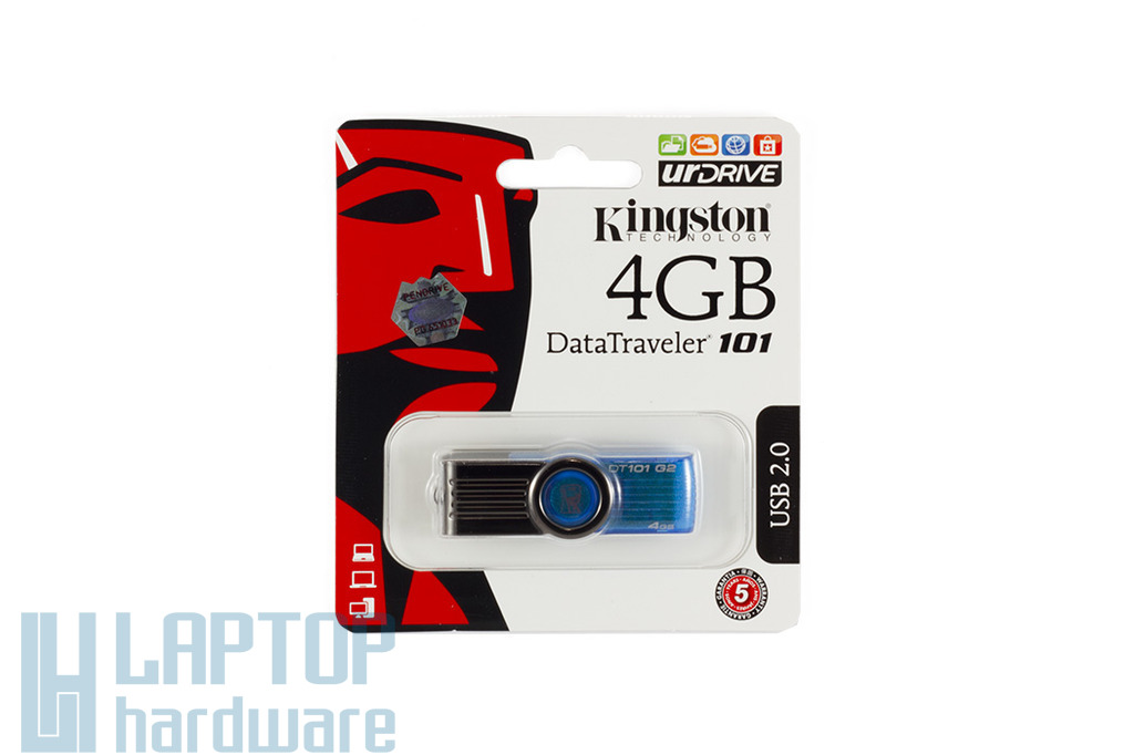 Kingston DT101 4GB kék pendrive, DT101G2/4GB