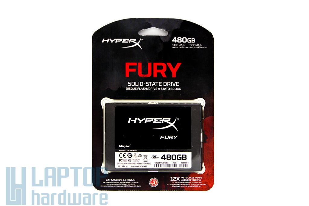 Kingston HyperX Fury 480GB SSD meghajtó (SHFS37A/480G) | 3 év garancia! | Ingyenes beszereléssel!