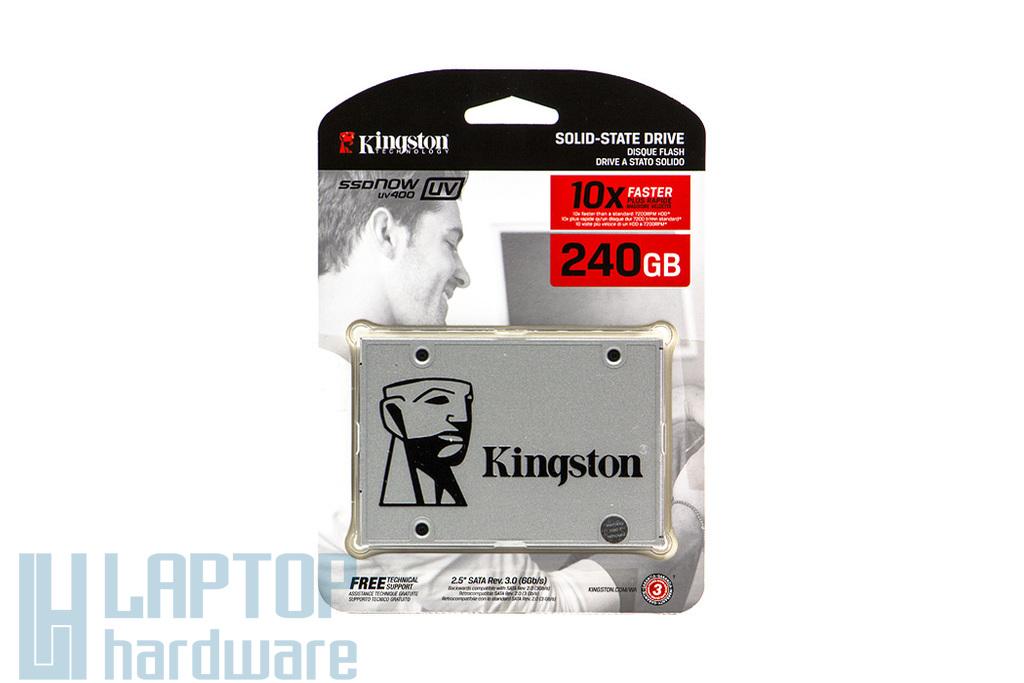 Kingston SSDNOW UV400 240GB SSD meghajtó (SUV400S37/240G) | 3 év garancia! | Ingyenes beszereléssel!
