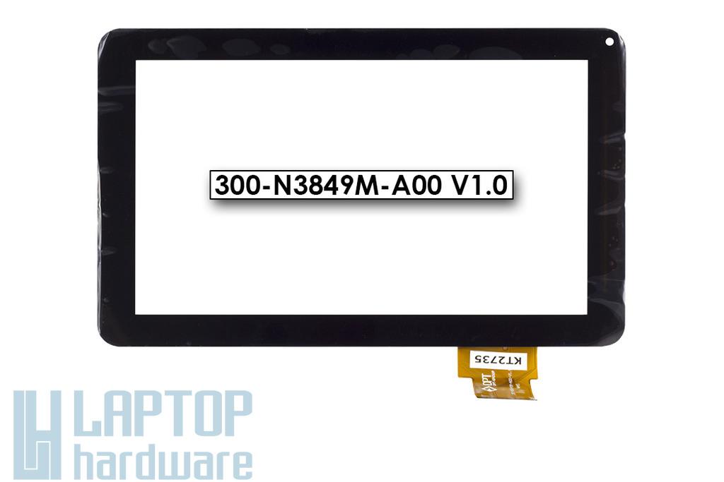 """Érintő panel, touchscreen Lazer Tablet 9"""" tablethez (300-N3849M-A00 V1.0)"""