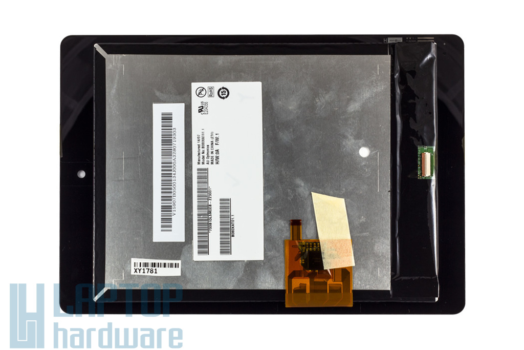 LCD kijelző (fényes) + tablet touchscreen modul Acer Iconia Tab A1-810 tablethez (B080XAT01.1, 7Z3B2118T0AD-ZZ3001)