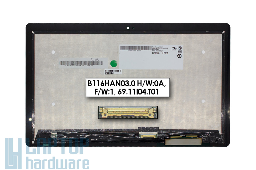 LCD kijelző modul (11.6'') Acer Iconia Tab W700 tablethez (B116HAN03.0, 69.11I04.T01)