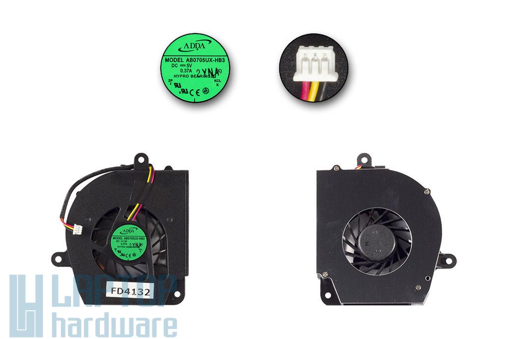 Lenovo 3000 C100, C200, N100, N200 gyári új laptop hűtő ventilátor (AB0705UX-HB3)