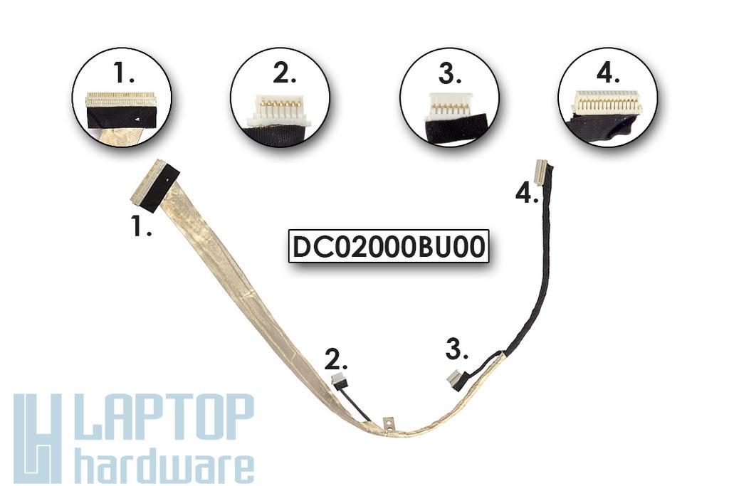 Lenovo 3000 C200 gyári új LCD kábel (15,4 inch) (DC02000BU00)