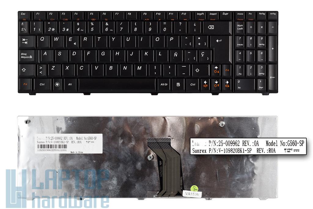 Lenovo 3000 G560, IdeaPad G560, G565 gyári új spanyol laptop billentyűzet