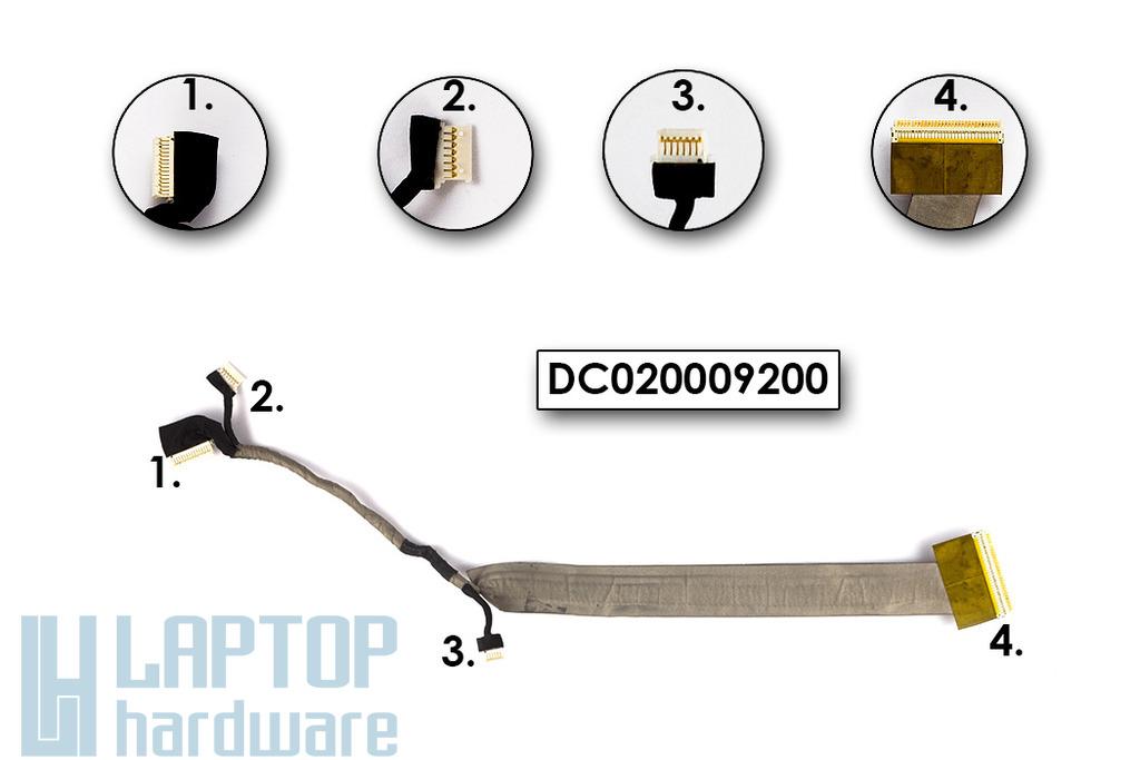 Lenovo 3000 N100 laptophoz használt LCD kábel WXGA(15,4inch)(DC020009200)