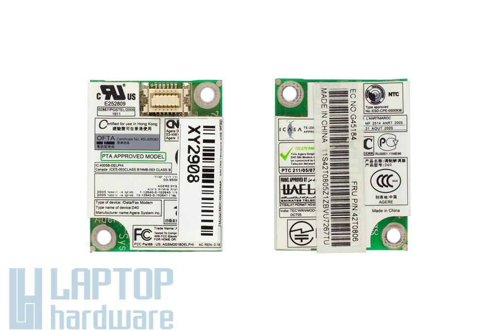 Lenovo 3000 N100 laptophoz használt modem kártya (42T0806)
