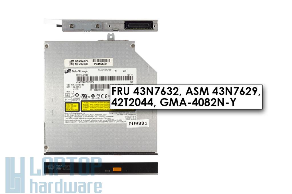 Lenovo 3000 N100, N200 laptopoz IDE DVD Író (FRU 43N7632)