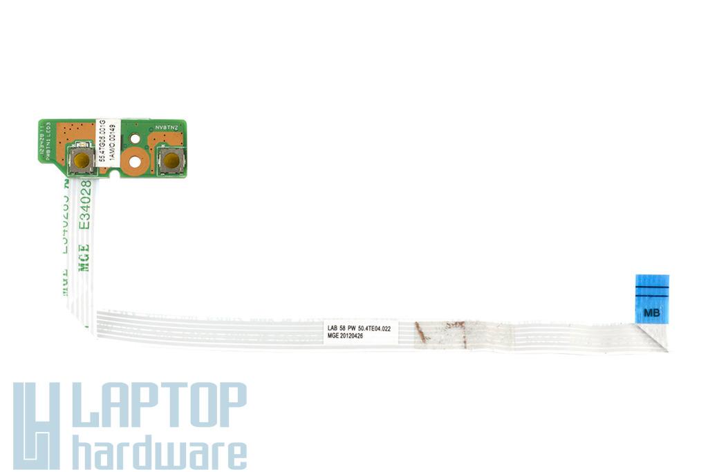 Lenovo B580, B590 használt bekapcsoló panel kábellel 55.4TG05.001G