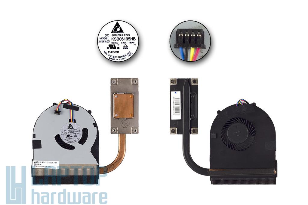 Lenovo Ideapad B580, B590 használt komplett laptop hűtőegység (60.4TE18.001, KSB06105HB)