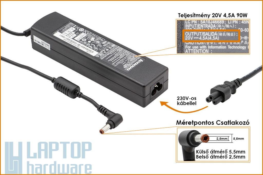 Lenovo IdeaPad 20V 4.5A 90W Gyári Új laptop töltő (PA-1900-56LC)