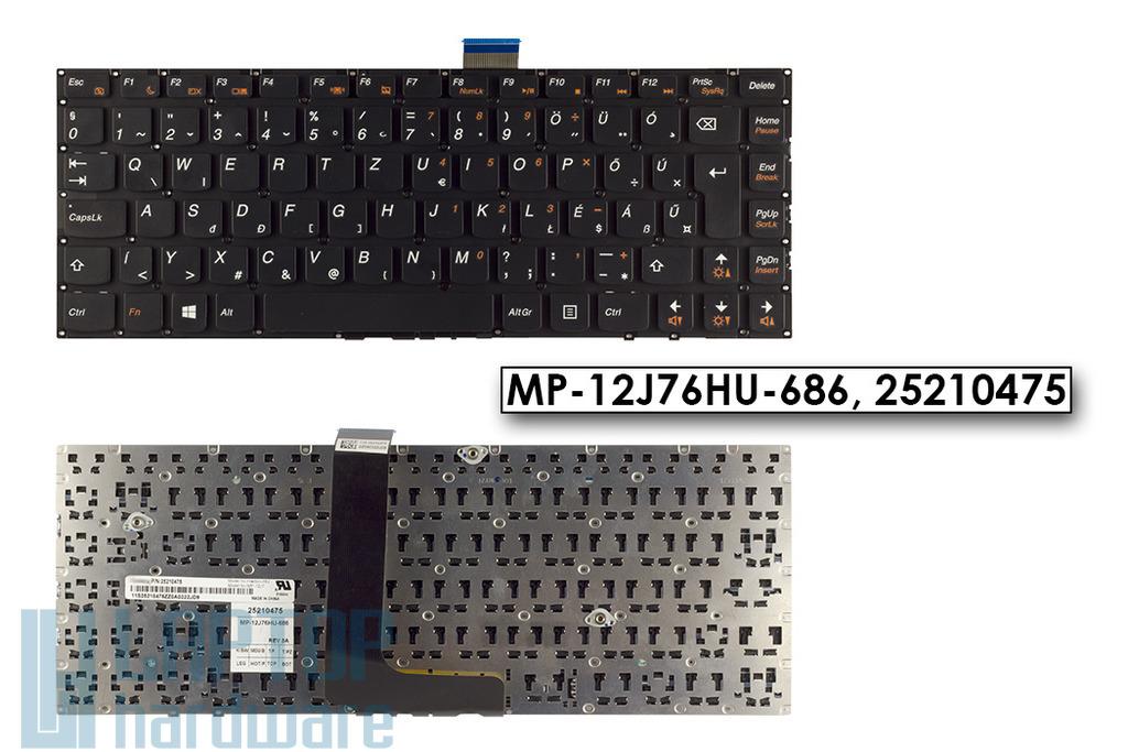 Lenovo IdeaPad B490s, M490s, M4400s gyári új magyar laptop billentyűzet, MP-12J76HU-686