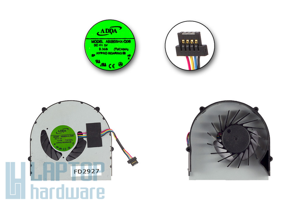 Lenovo IdeaPad B560, B565 gyári új laptop hűtő ventilátor, AB5605HX-Q08