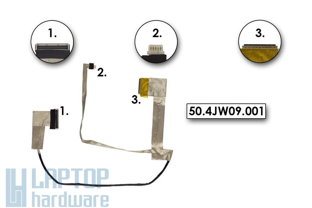 Lenovo IdeaPad B560, V560 gyári új LCD szalagkábel, 50.4JW09.001