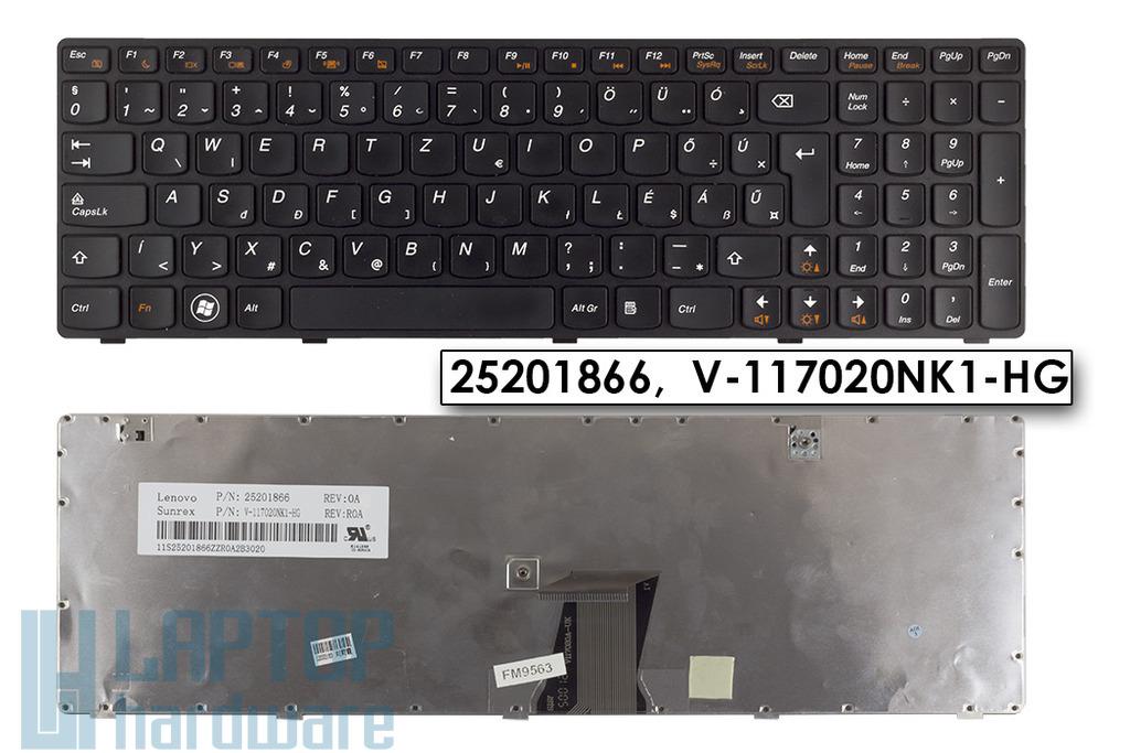 Lenovo IdeaPad G580, Z580 használt magyar laptop billentyűzet, V-117020NK1-HG