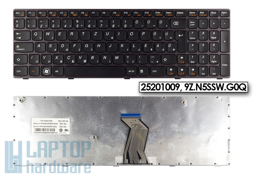 Lenovo IdeaPad B570, V570, Z570 magyar lila keretes laptop billentyűzet (25201009)