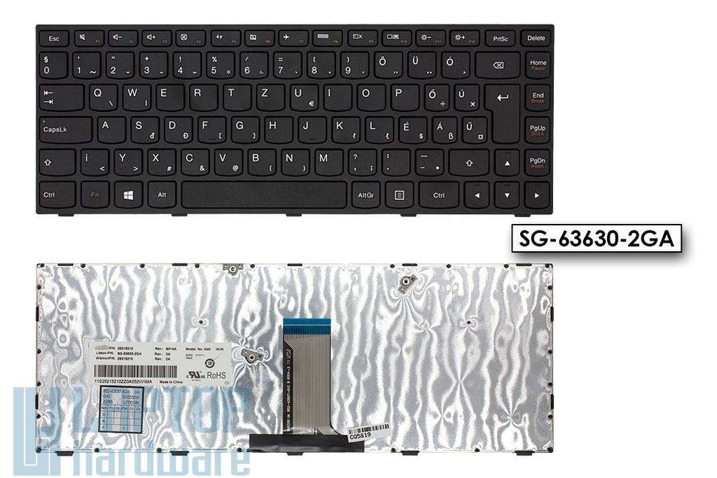Lenovo IdeaPad G40, B40 sorozat, Flex 2-14 gyári új magyar fekete laptop billentyűzet (25215210)