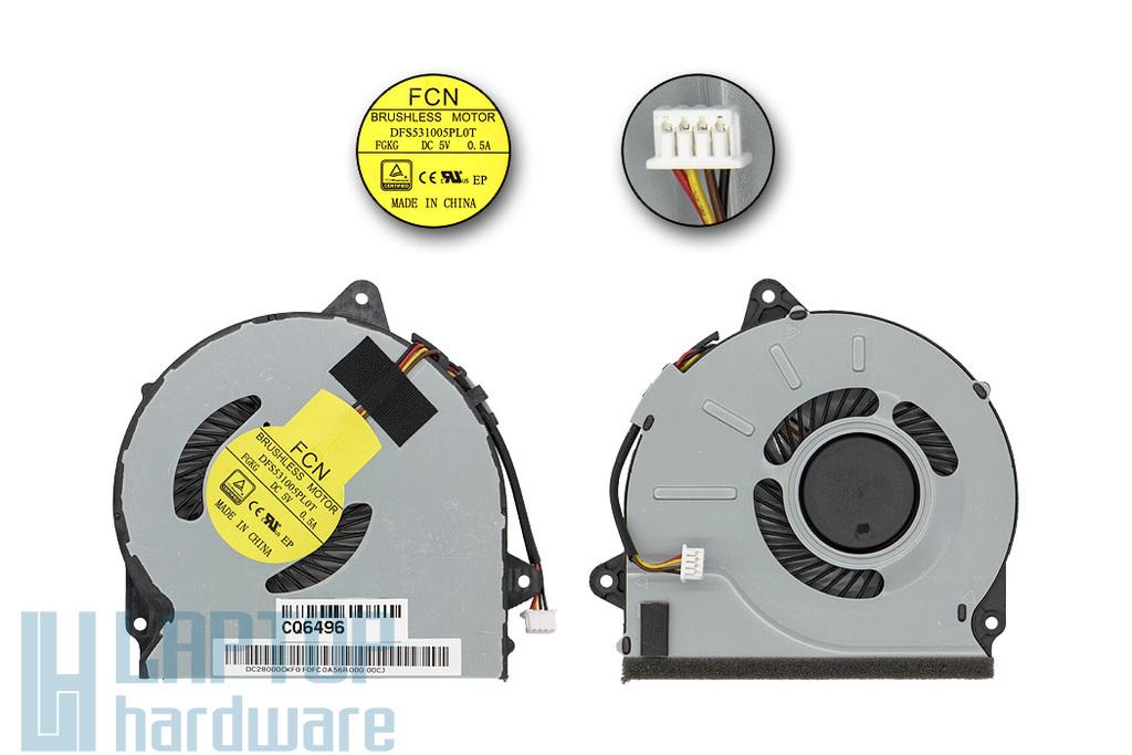 Lenovo IdeaPad G40, G50, Z40, Z50 sorozathoz gyári új laptop hűtő ventilátor (DFS531005PL0T FGKG, FRU 90205116)