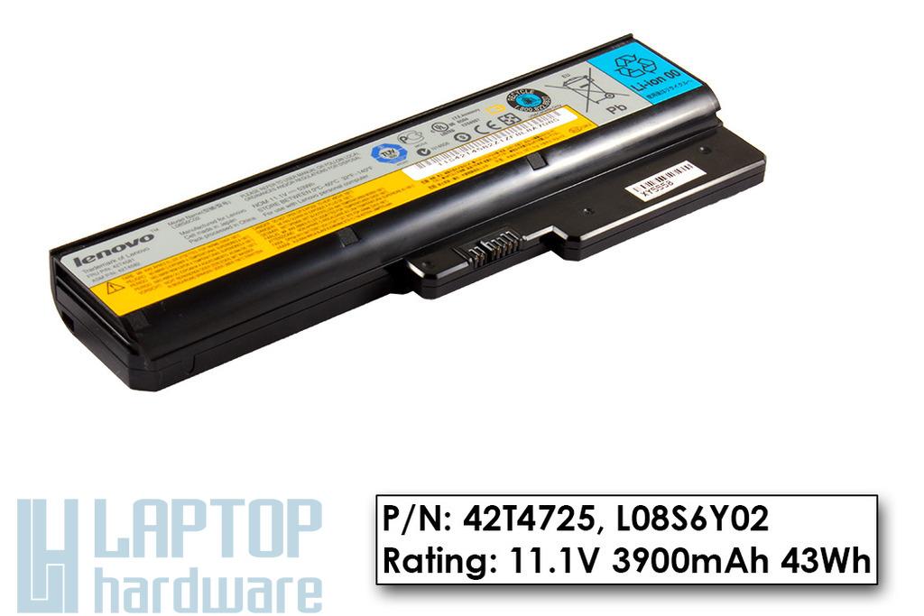 Lenovo IdeaPad G430, G530, G555 használt 6 cellás 100%-os laptop akku/akkumulátor (42T4725)