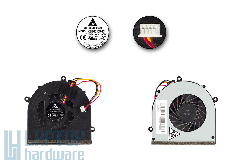 Lenovo IdeaPad G460, G475, G570, G575 használt laptop hűtő ventilátor (KSB05105HC AG53)