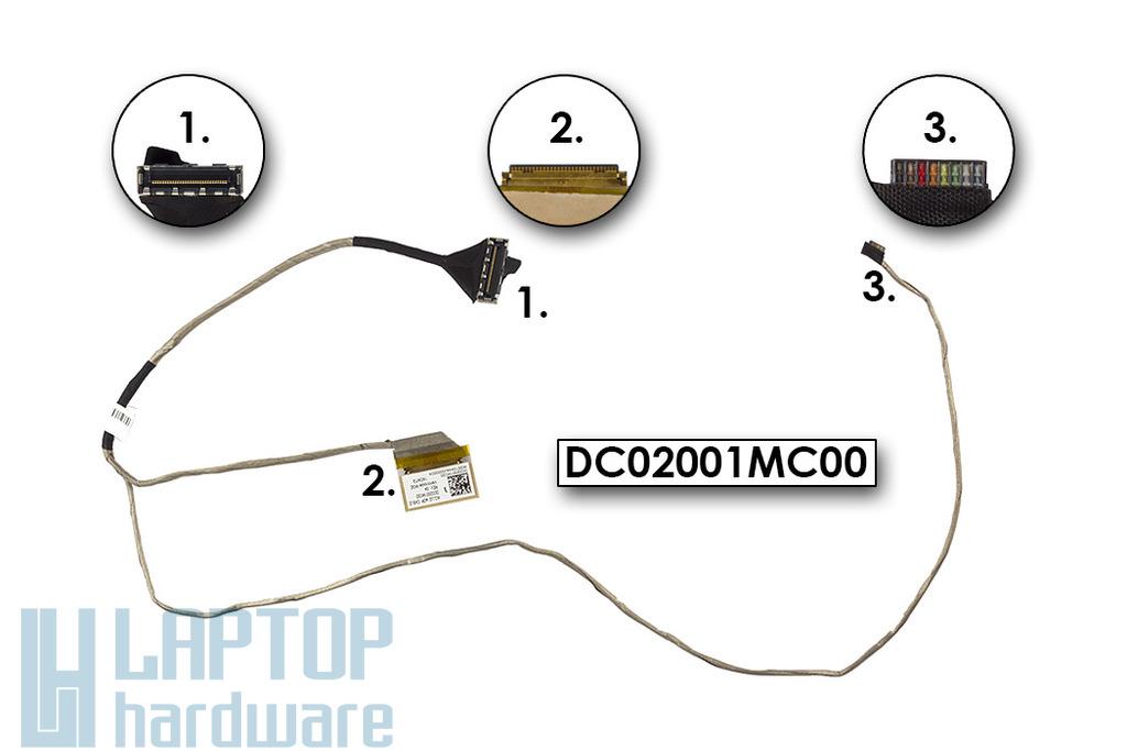 Lenovo IdeaPad G50-80, Z50-70 gyári új laptop LCD kábel, eDP, UMA, DC02001MC00, DC02001MH00