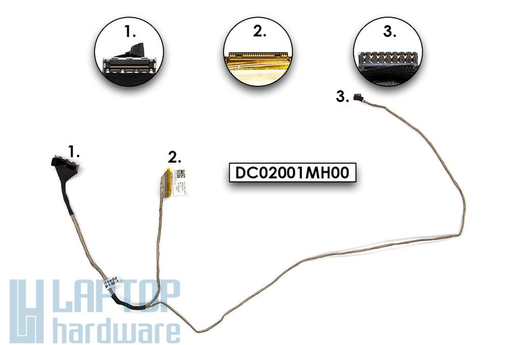 Lenovo IdeaPad G50-80, Z50-70 használt laptop LCD kábel, eDP, UMA, DC02001MC00, DC02001MH00