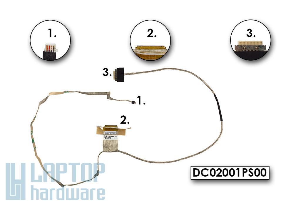 Lenovo IdeaPad G500, G505, G510 gyári új laptop LCD kábel (UMA) (DC02001PS00)