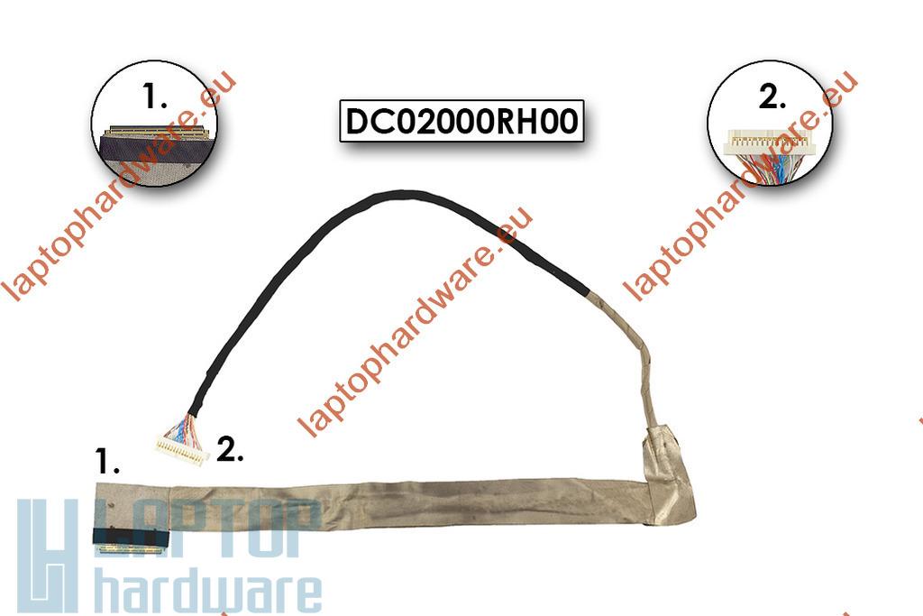 Lenovo IdeaPad G550, G555 használt LCD kábel, DC02000RH00