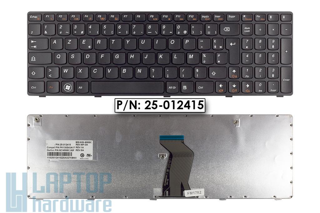 Lenovo Ideapad G570, G575, Z560 gyári új francia laptop billentyűzet, 25-012415