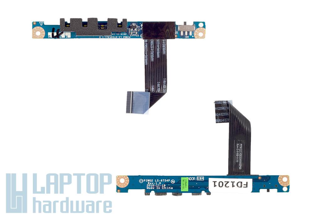 Lenovo IdeaPad G570 laptophoz használt LED/Wifi kapcsoló panel kábellel (LS-6745P)