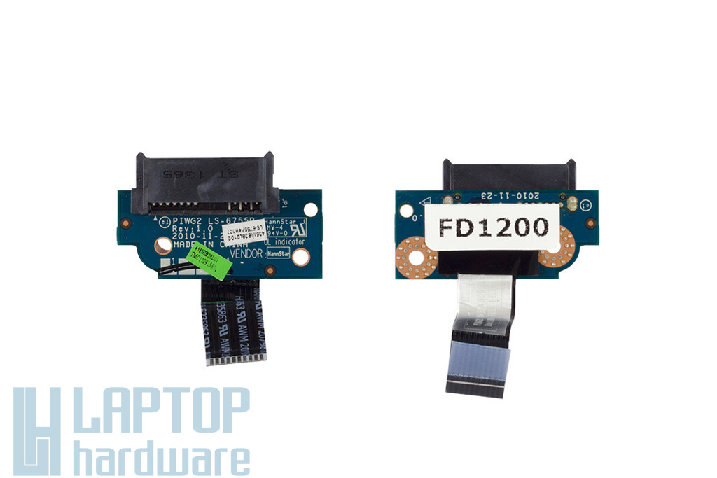 Lenovo IdeaPad G570 laptophoz használt Sata CD/DVD csatlakozó, (LS-6755P)
