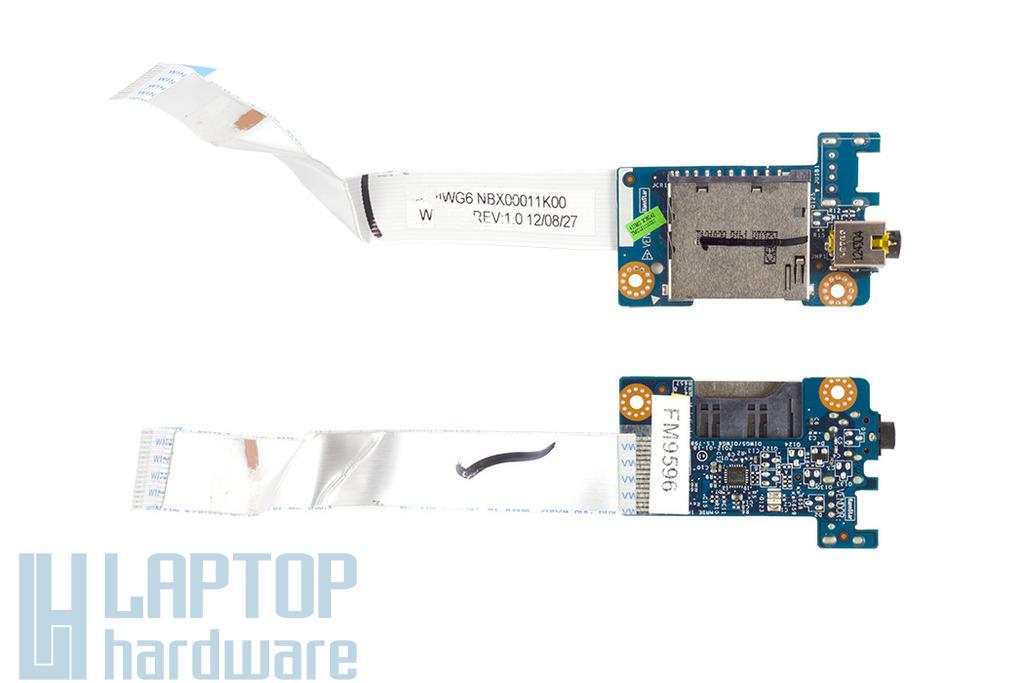 Lenovo IdeaPad G580 laptophoz használt Audio/kártyaolvasó panel, Audio/Card reader board (LS-7986P)