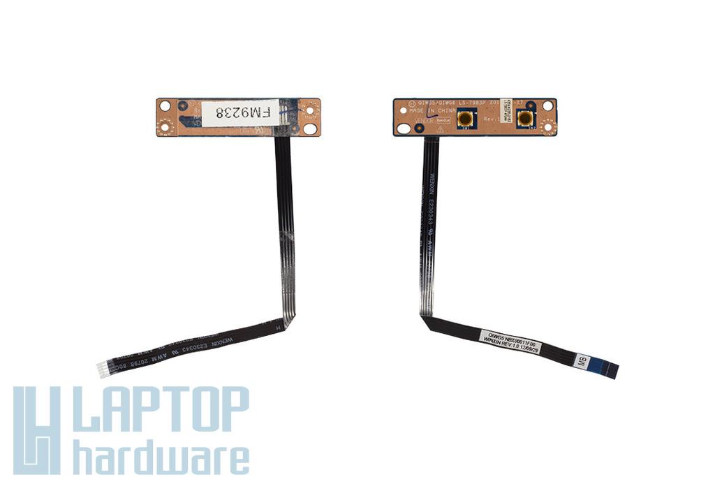 Lenovo IdeaPad G580 laptophoz használt Bekapcsoló panel kábellel (LS-7983P)