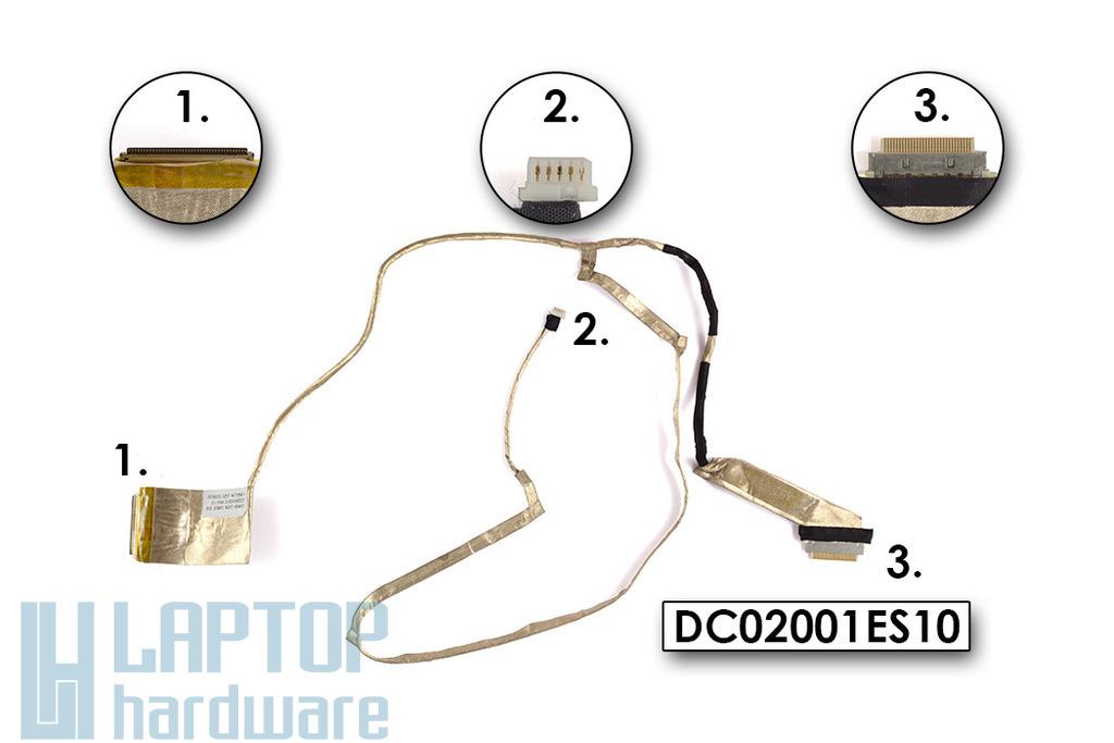 Lenovo IdeaPad G580 laptophoz használt LCD kábel, DC02001ES10