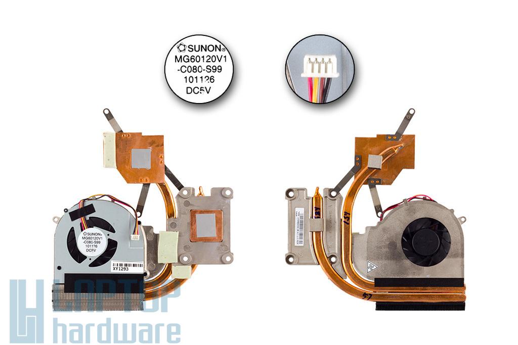 Lenovo IdeaPad G770 gyári új laptop hűtő modul (AT0H4003SS0, MG60120V1-C080-S99)