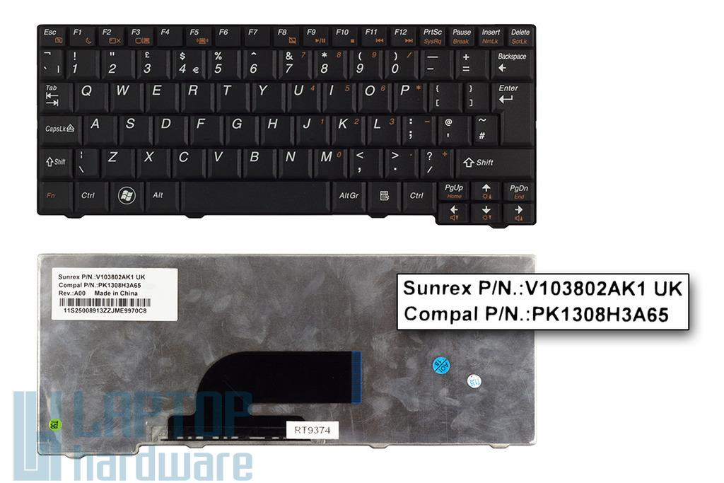 Lenovo IdeaPad S10-2, S11 gyári új UK angol fekete laptop billentyűzet (V103802AK1 UK)