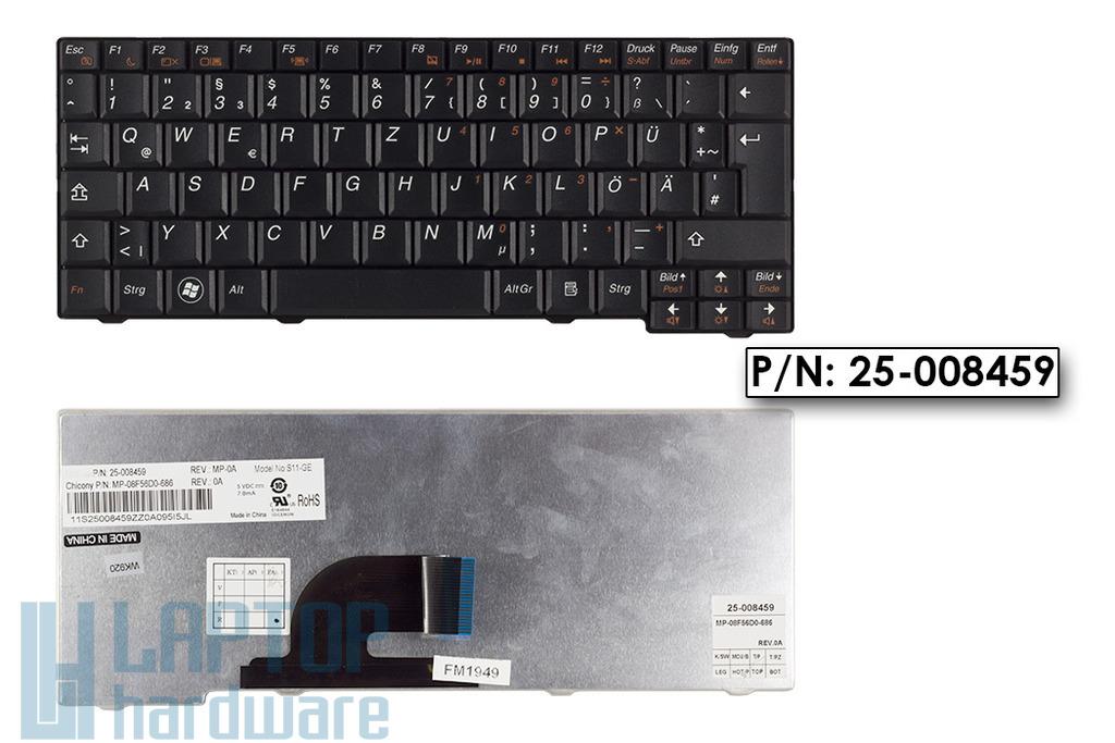 Lenovo IdeaPad S10-2, S11 gyári új német fekete laptop billentyűzet, 25-008459