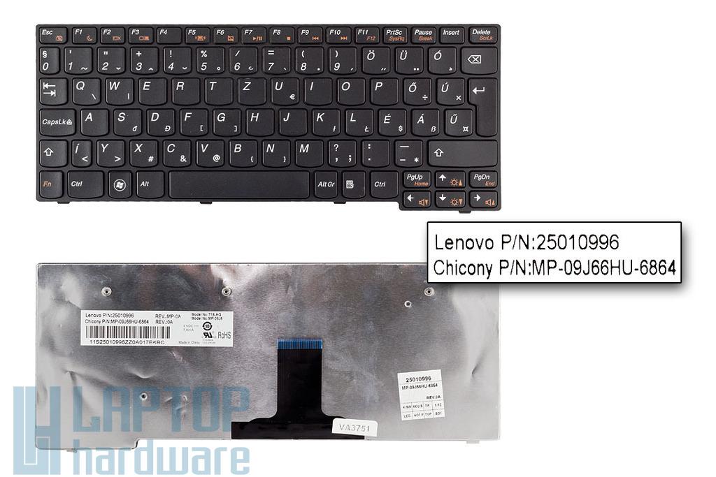 Lenovo IdeaPad S10-3 gyári új magyar fekete laptop billentyűzet (25010043, 25010996)
