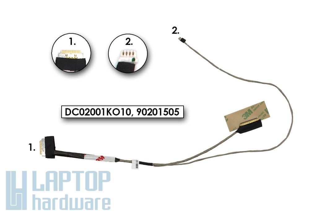 Lenovo IdeaPad S300, S400, S500, M30-70  gyári új LCD kijelző kábel (DC02001KO10)