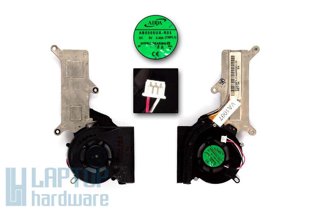 Lenovo IdeaPad S9, S9e, s10, s10e használt komplett 3 pines laptop hűtő ventilátor (AB5005UX-R03)