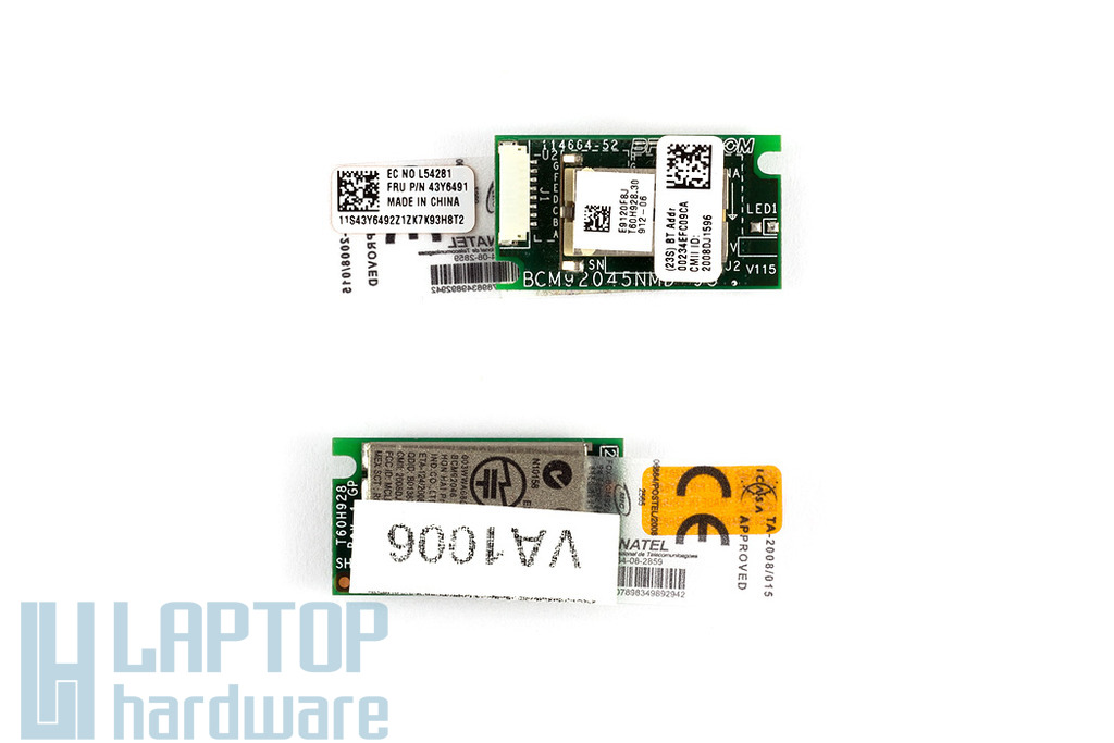 Lenovo IdeaPad S9, S9e laptophoz használt Bluetooth panel (43Y6491)