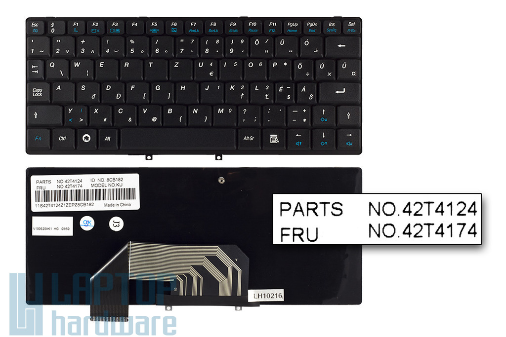 Lenovo IdeaPad S9, S9e, S10, S10e gyári új magyar fekete laptop billentyűzet (FRU 42T4174)