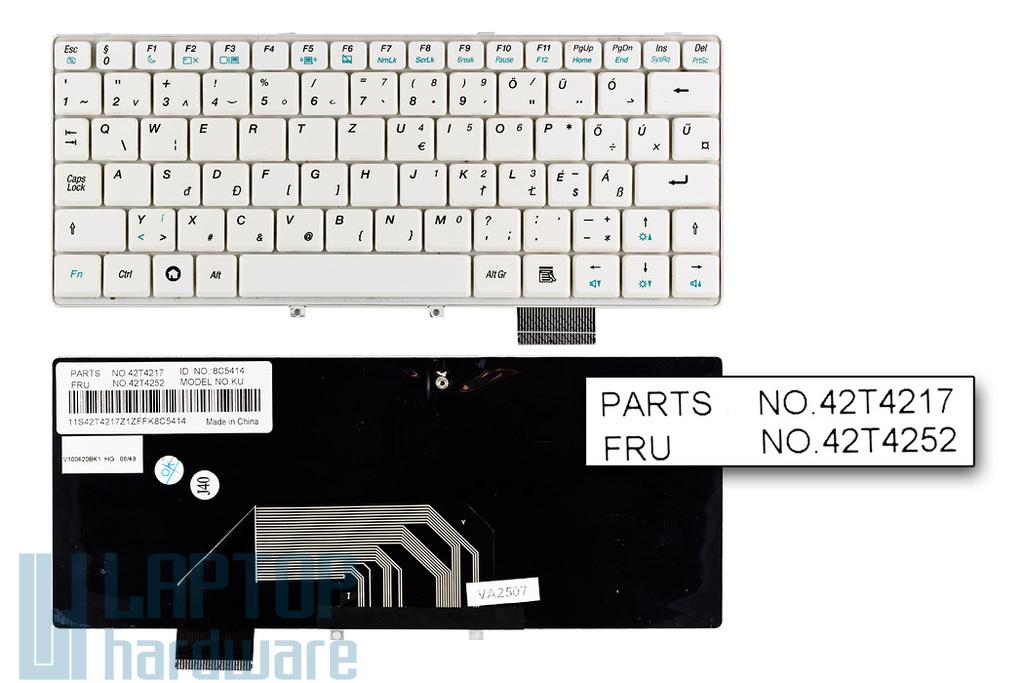 Lenovo IdeaPad S9, S9e, S10, S10e használt magyar fehér billentyűzet (FRU 42T4252)